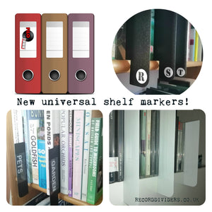 New universal shelf markers - plastic cards.