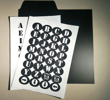 "Load image into Gallery viewer, 12"" Record Dividers A-Z Kit (Black & White)"