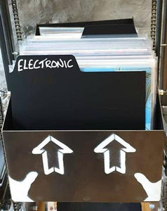 "12"" record divider in use"