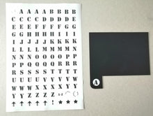 Load image into Gallery viewer, Book Shelf Dividers A to Z Kit Black