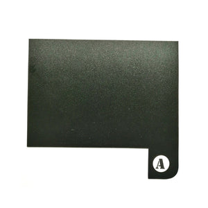 Book Shelf Dividers A to Z Kit Black
