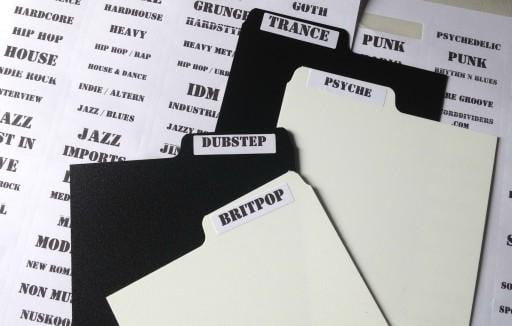 CD Dividers (Mixed Black & White)