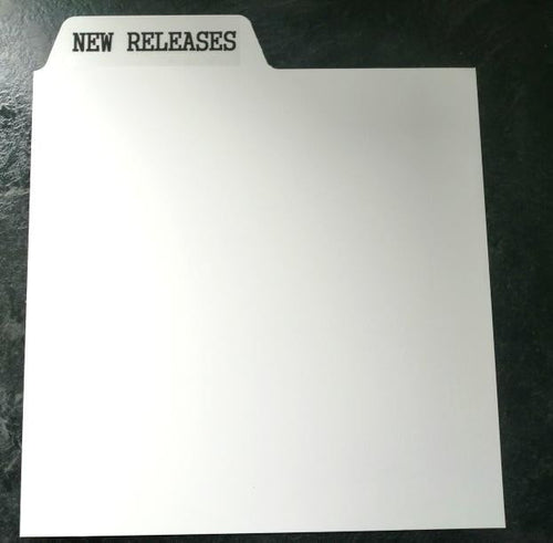 Custom printed record dividers