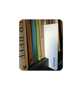 White Shelf Marker for seperating Books