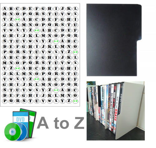 DVD dividers A-Z set