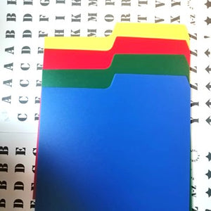 "7"" Record Dividers A-Z Kit (Mixed Colours)"