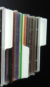 white CD Divider index cards