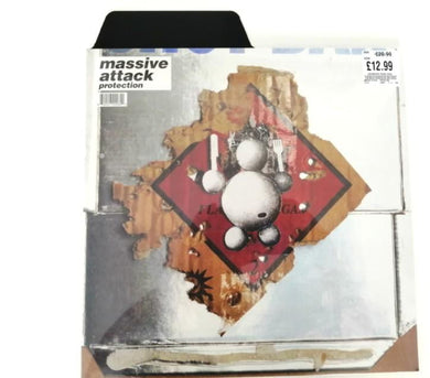 Photo showing tab height over record sleeve.