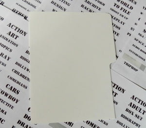 DVD index cards for shops and large collections