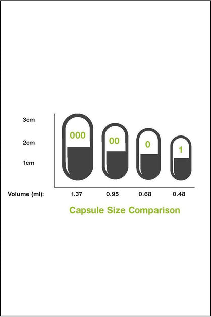 Capsules - Vegan Size Medium (0) Clear 100pk