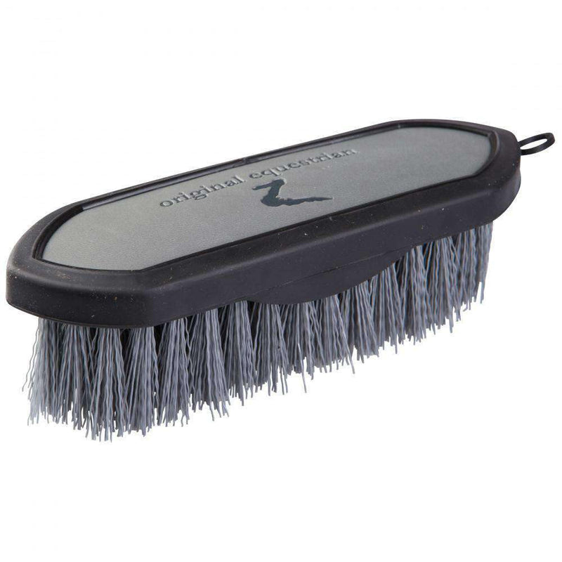 Horze Maddox Leather-Handled Dandy Brush