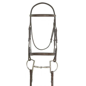 Ovation Elite Fancy Raised Traditional Bridle with Raised Fancy Laced Reins