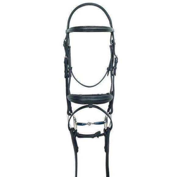 Ovation ATS Traditional Caveson Dressage Bridle with Flash