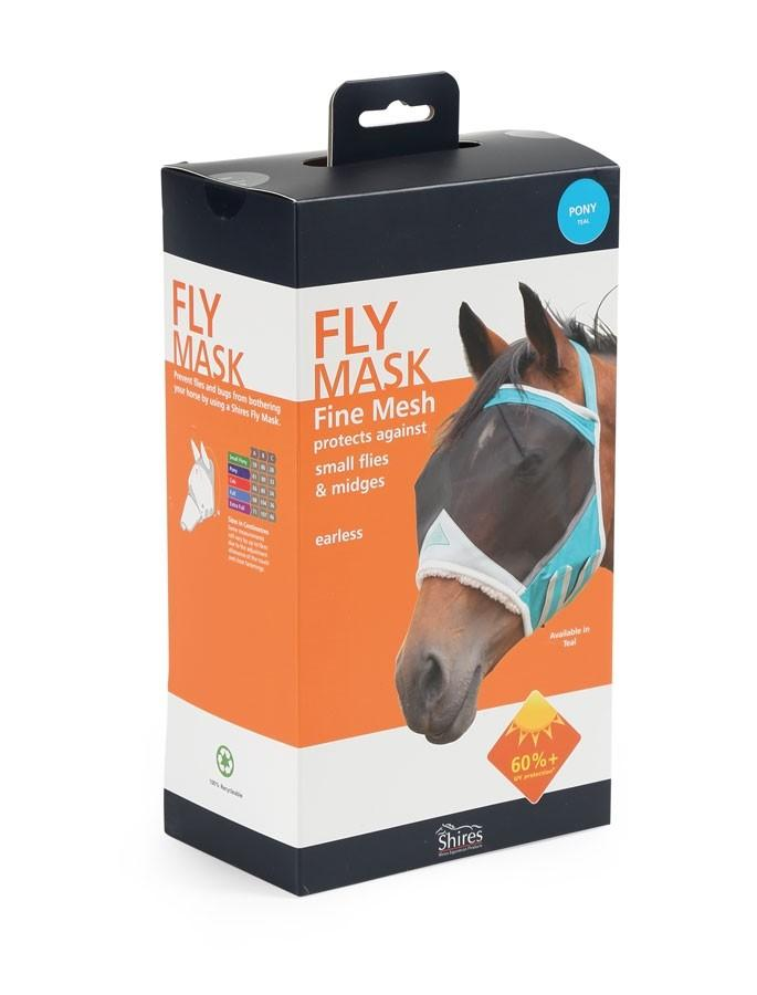 Shires Fine Mesh Earless Fly Mask
