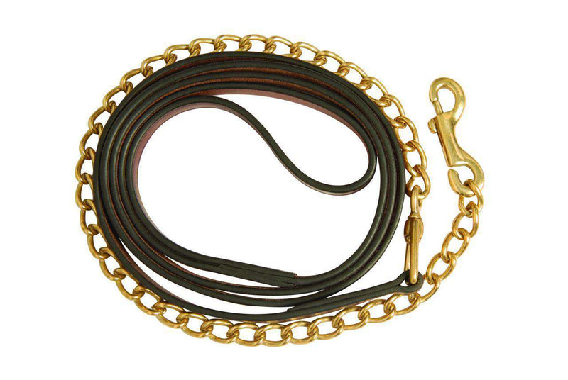 Collegiate Brass Chain Lead, Leads, Collegiate, One Stop Equine Shop - One Stop Equine Shop