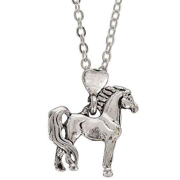 Kelley and Company Proud Standing Horse Pendant with Heart Bale
