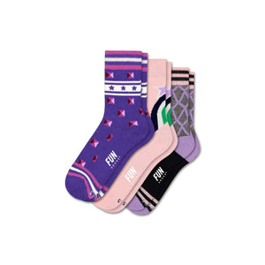 Fun Socks Girl's Studs 3 Pack Socks