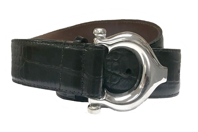 Brian Toohey Belt Crocodile Black 1.5""