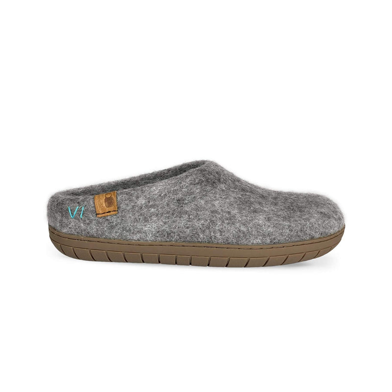 Baabushka Wool Slipper With Rubber Sole And Arch Support