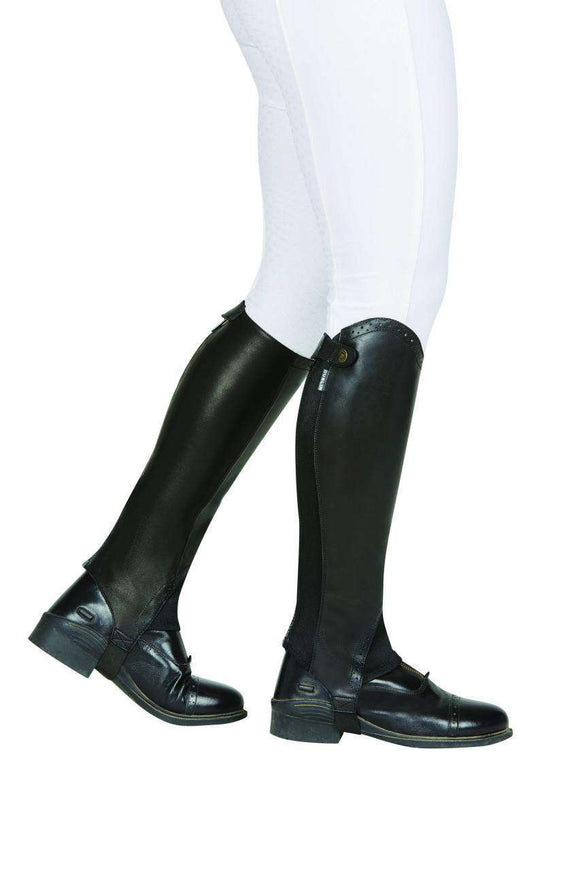 Dublin Evolution Rear Zip Half Chaps, Leather Half Chaps, Dublin, One Stop Equine Shop - One Stop Equine Shop
