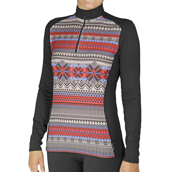 Hot Chillys' Women's Micro-Elite Chamois Print Zip-T