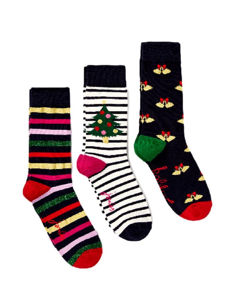 Joules Christmas Bamboo Socks – 3 Pack