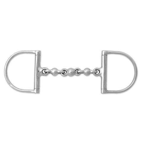 Korsteel Stainless Steel Waterford Hunter Dee Ring Snaffle Bit