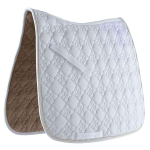 Roma Ecole Flower Diamond Quilt Dressage Saddle Pad