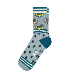 Fun Socks Women's Skull & Floral Socks