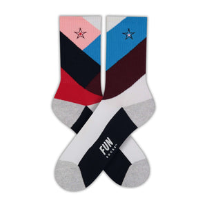 Fun Socks Women's Chevron Athletic Socks