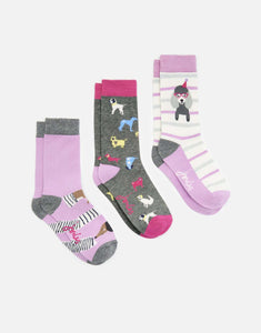 Joules Girls Junior Brilliant Novelty Socks, Socks, Joules, One Stop Equine Shop - One Stop Equine Shop
