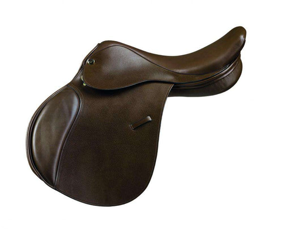 Camelot Close Contact Saddle Dark Brown