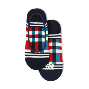 Fun Socks Women's No Show Plaid Socks