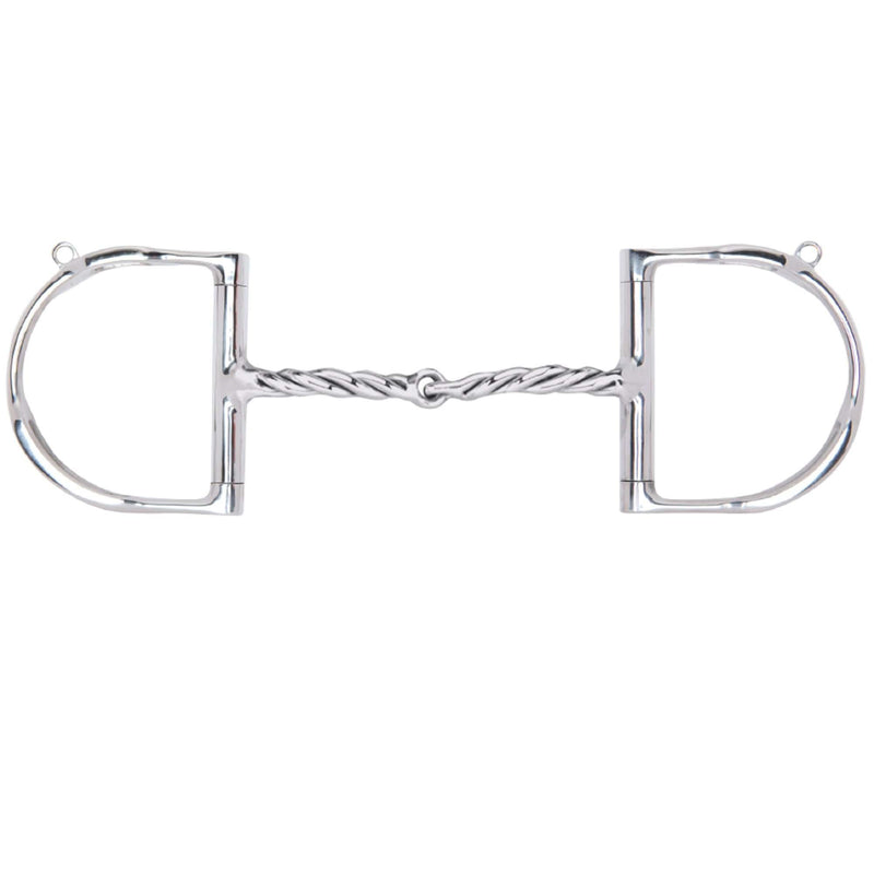 Myler Dee with Hooks with Stainless Steel Twisted Snaffle