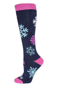 Hot Chillys' Women's Snowflakes Mid Volume Sock