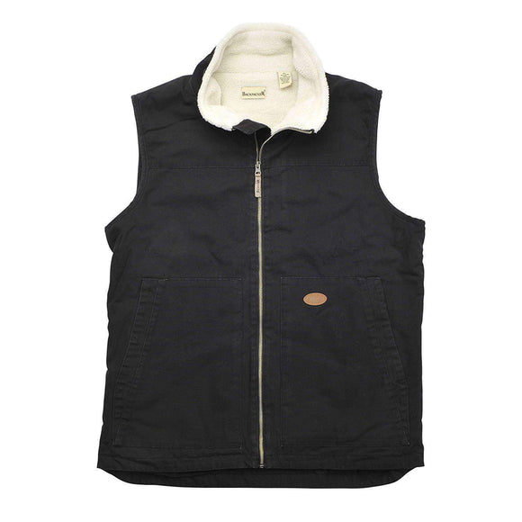 Backpacker Men's Sherpa Lined Canvas Vest