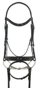 Ovation Natalia Crank Flash Dressage Bridle