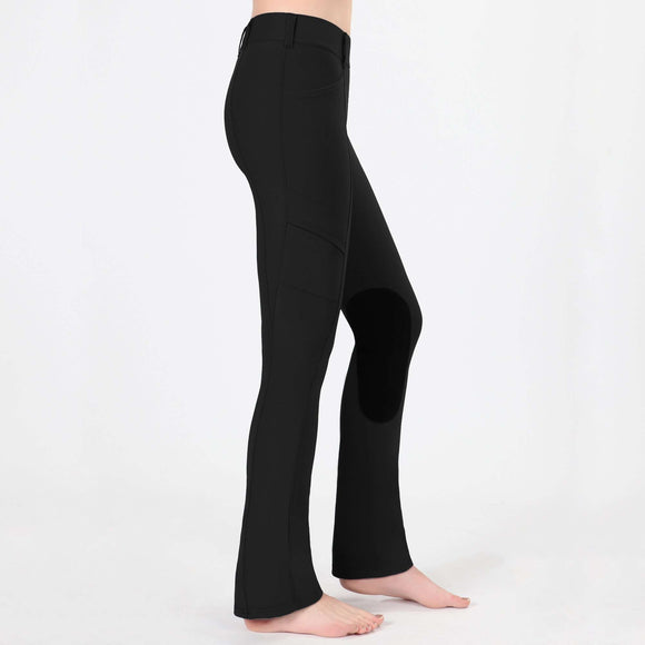 Irideon Issential Cargo Bootcut Tight, Knee Patch Tights, Irideon, One Stop Equine Shop - One Stop Equine Shop