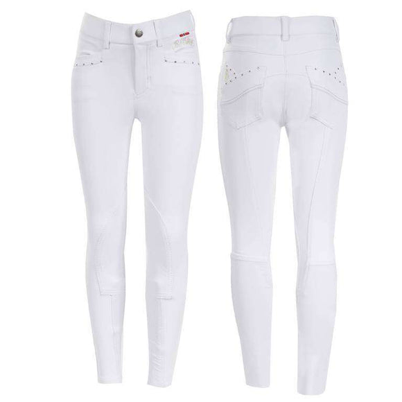 B Vertigo Olivia Girls Silicone Full Seat Breeches, Full Seat Breeches, B Vertigo, One Stop Equine Shop - One Stop Equine Shop