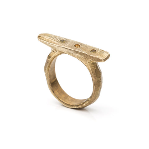 LARGE PLANE STACK RING