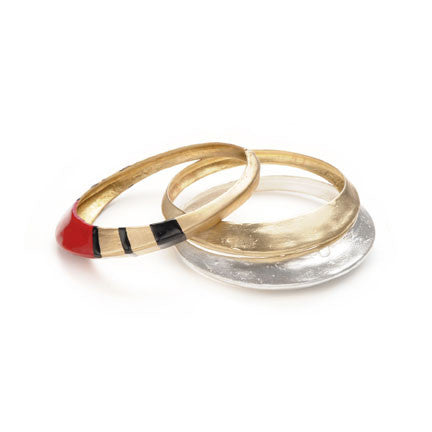 Enameled TALON BANGLE SET