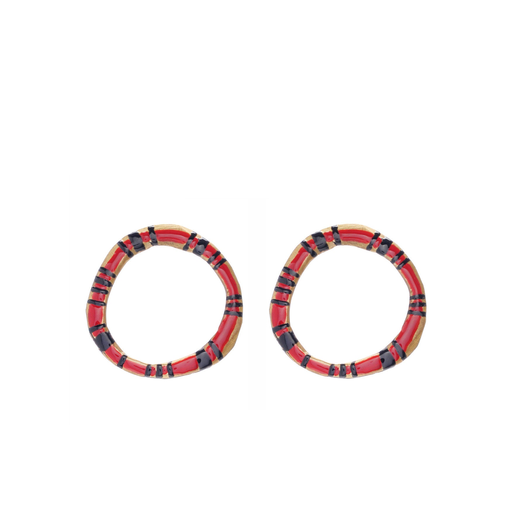 Enameled FLAT HOOPS