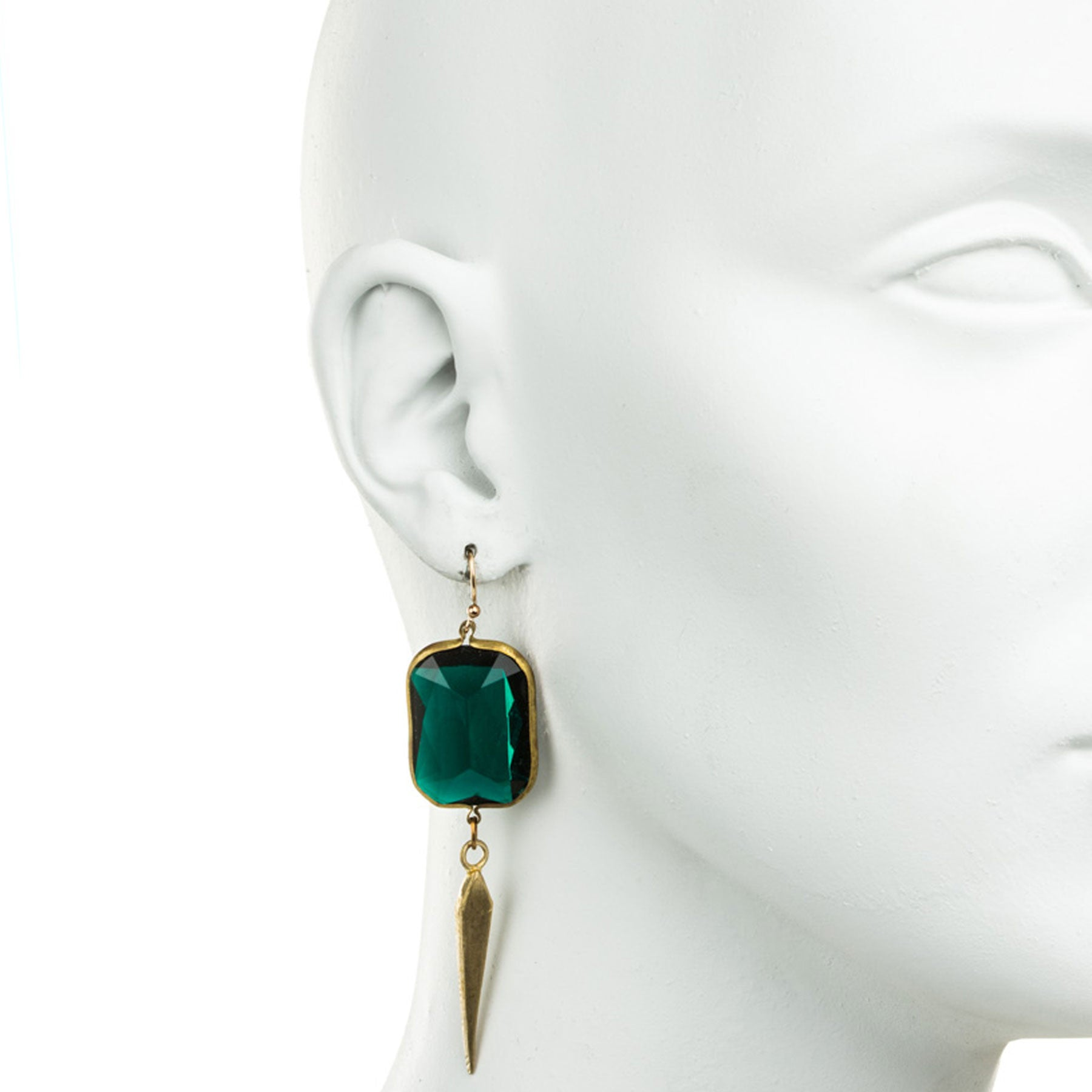 Deco Dagger and Emerald Lucite