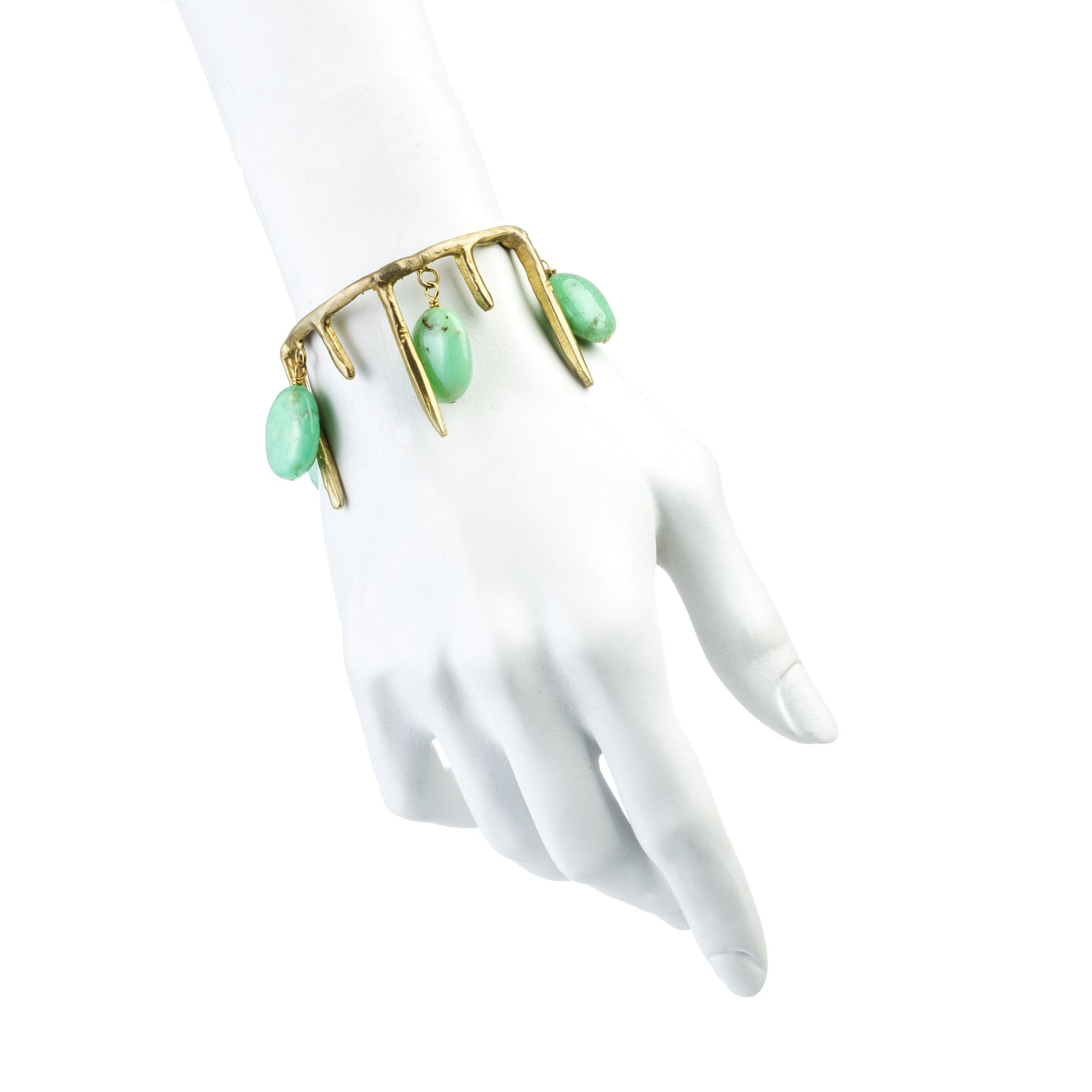 ICICLES AND CHRYSOPRASE CUFF
