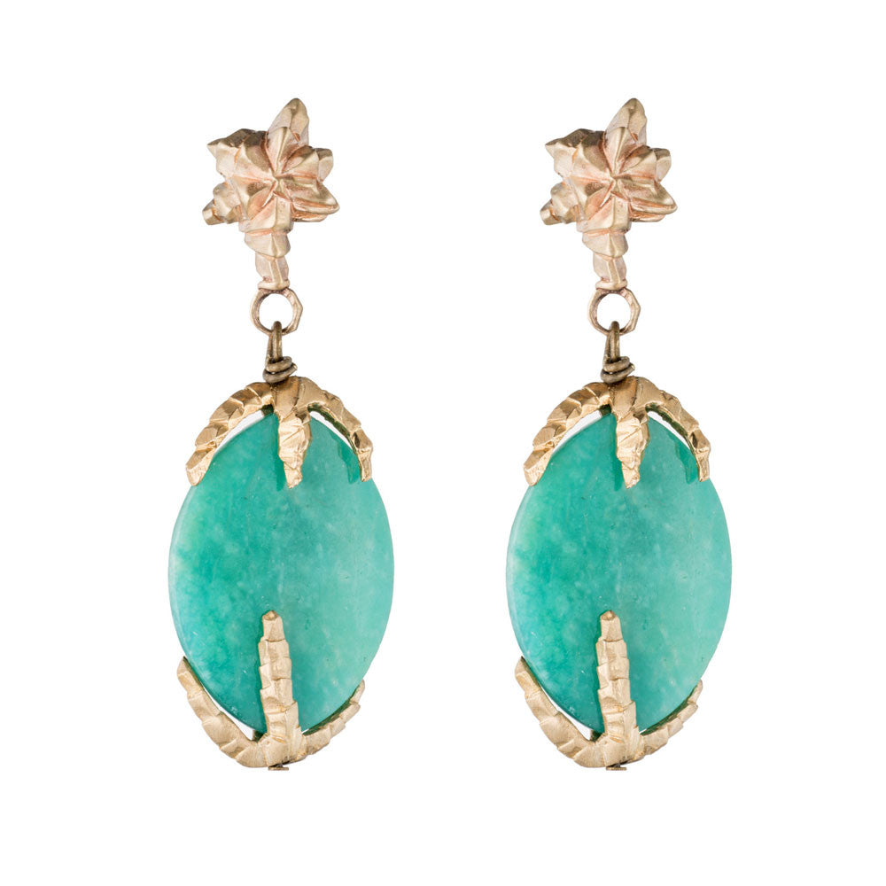 DECO CHRYSOPRASE EARRINGS