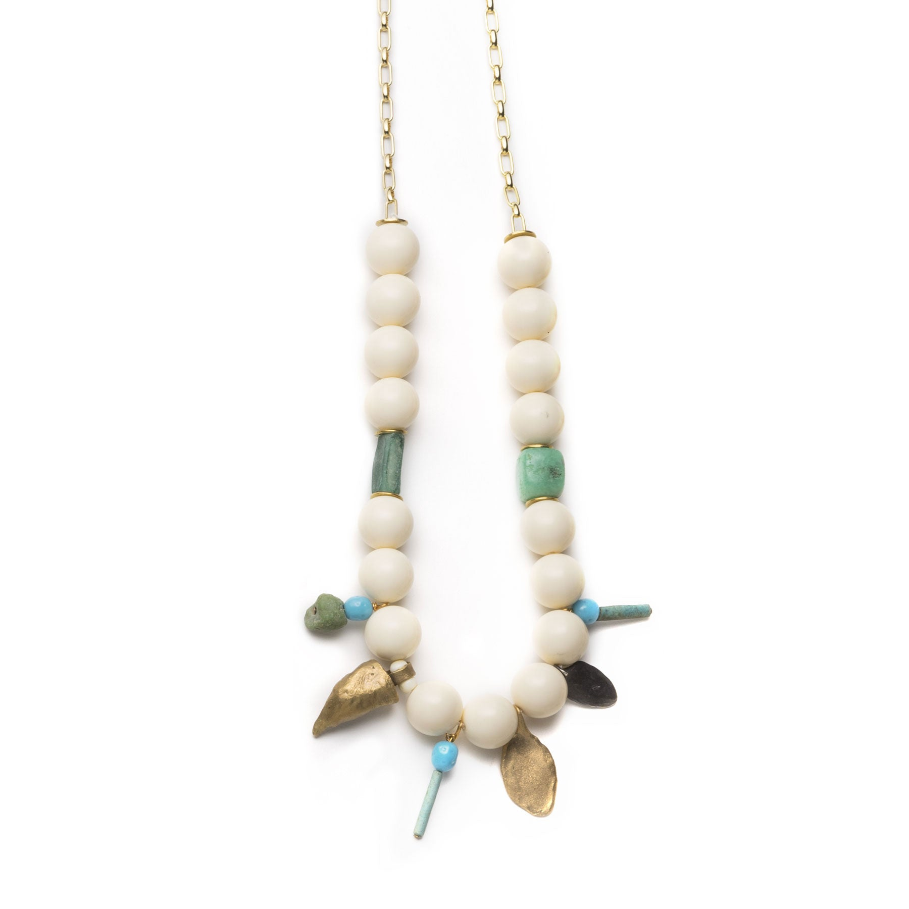 Large Claw and Vintage Lucite Necklace
