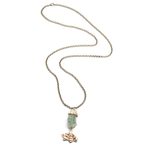 DECO PREHNITE AND FAN PENDANT