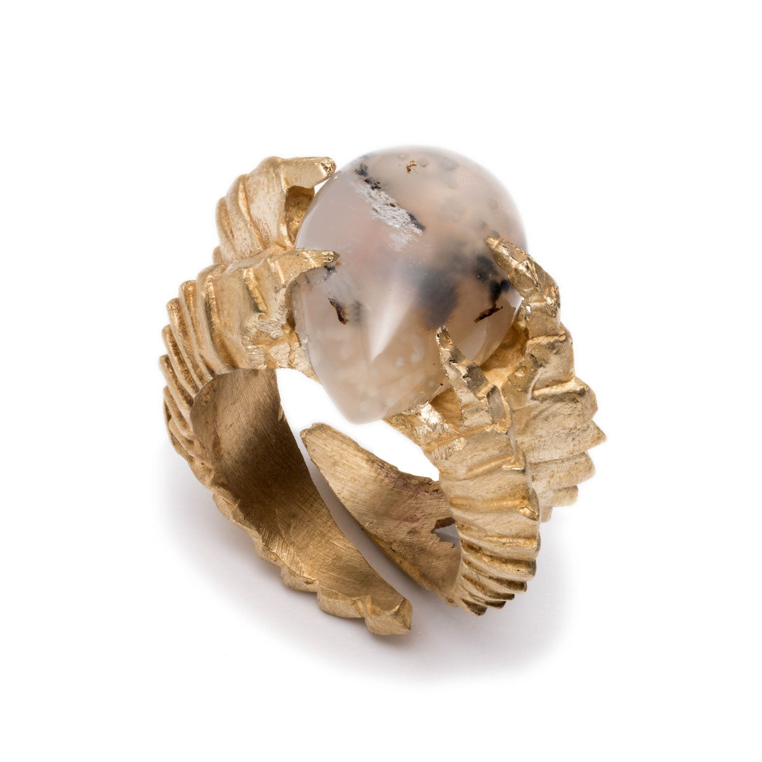 DECO AGATE RING
