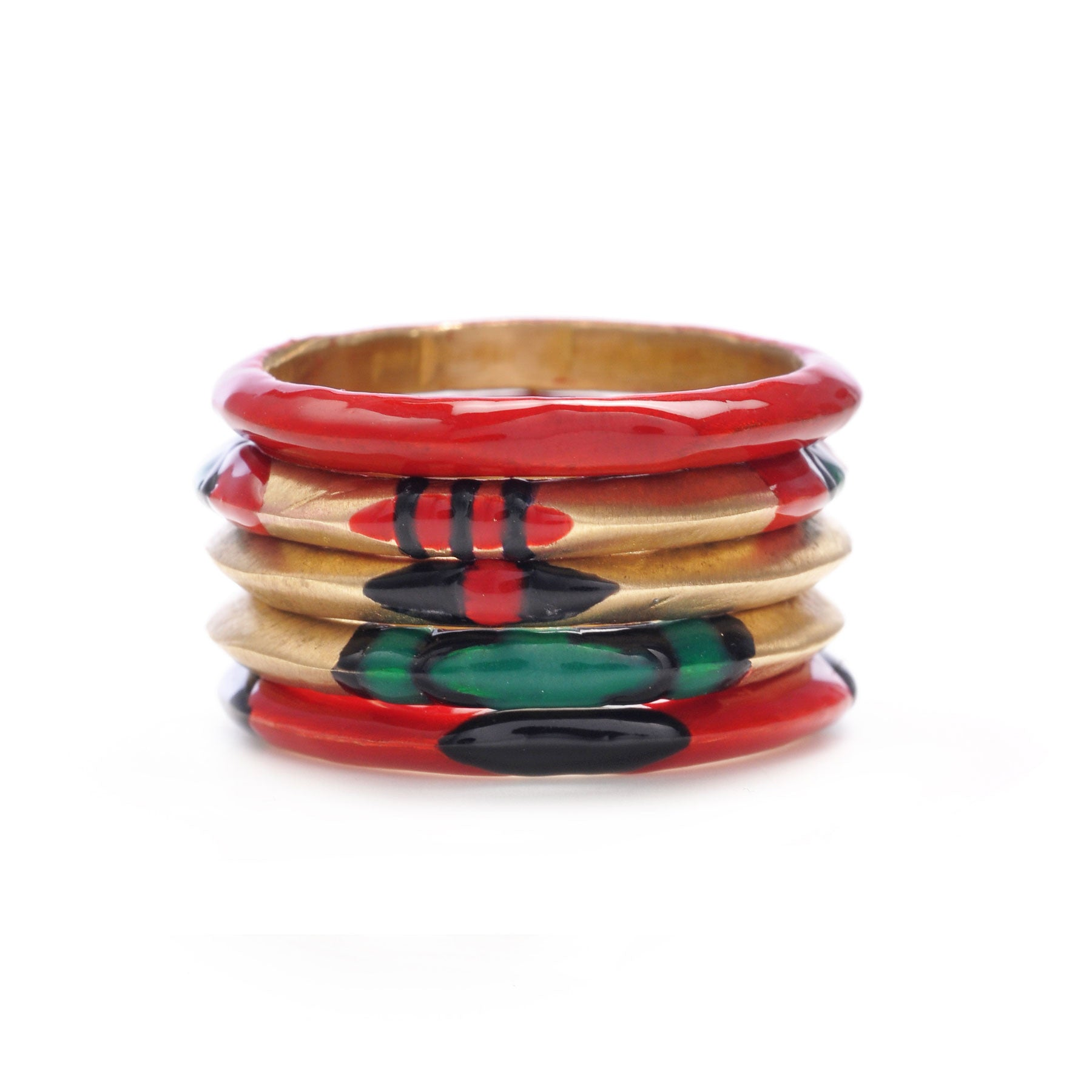 ENAMELED ROUND STACK RINGS