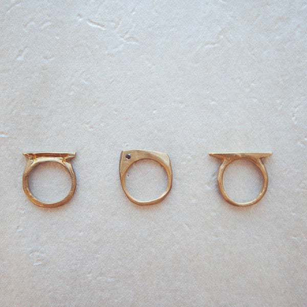 RECTANGLE STACK RINGS